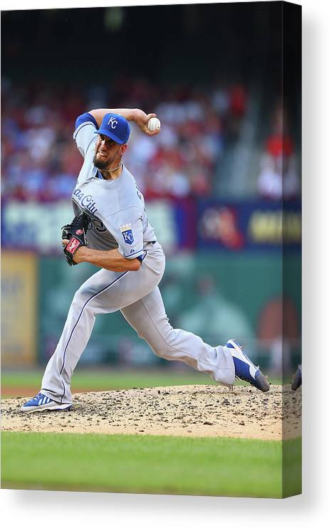 American League Baseball Canvas Print featuring the photograph James Shields by Dilip Vishwanat