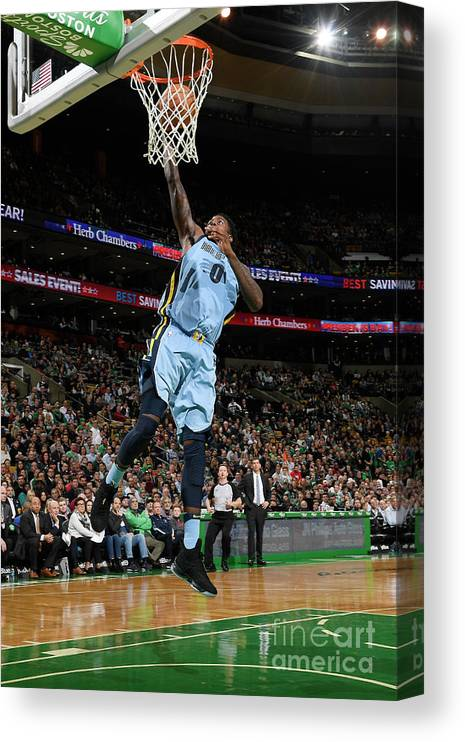 Nba Pro Basketball Canvas Print featuring the photograph Jamychal Green by Brian Babineau