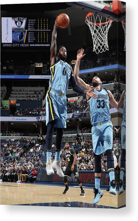 Nba Pro Basketball Canvas Print featuring the photograph Jamychal Green by Joe Murphy