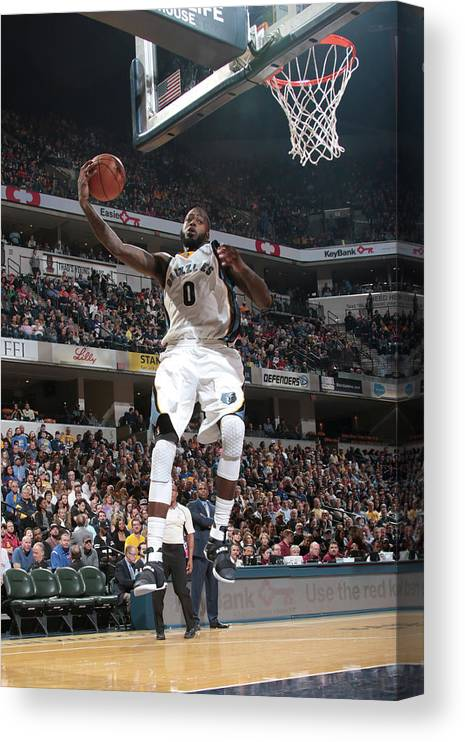 Nba Pro Basketball Canvas Print featuring the photograph Jamychal Green by Ron Hoskins