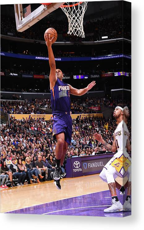 Nba Pro Basketball Canvas Print featuring the photograph Jared Dudley by Andrew D. Bernstein
