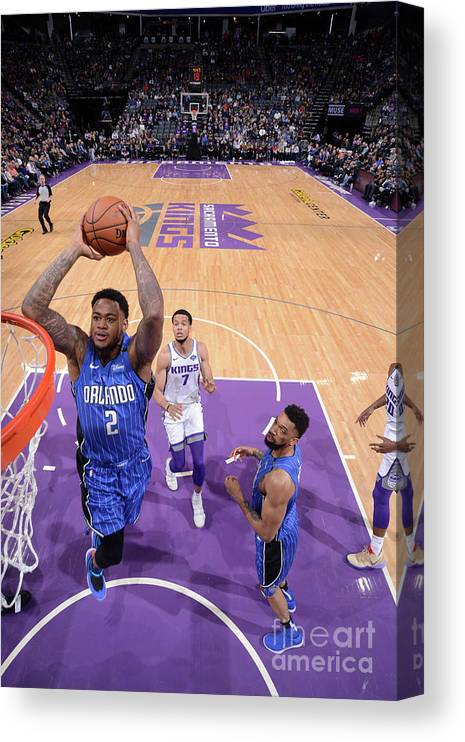 Nba Pro Basketball Canvas Print featuring the photograph Jarell Martin by Rocky Widner