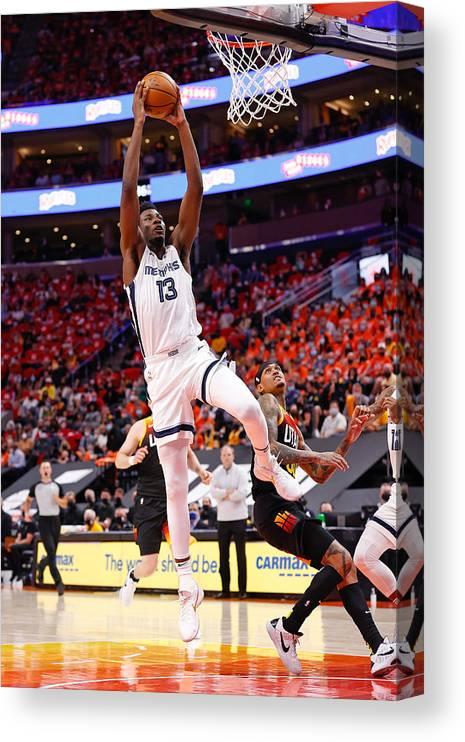 Playoffs Canvas Print featuring the photograph Jaren Jackson by Jeff Swinger