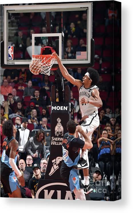 Nba Pro Basketball Canvas Print featuring the photograph Jarrett Allen by David Liam Kyle