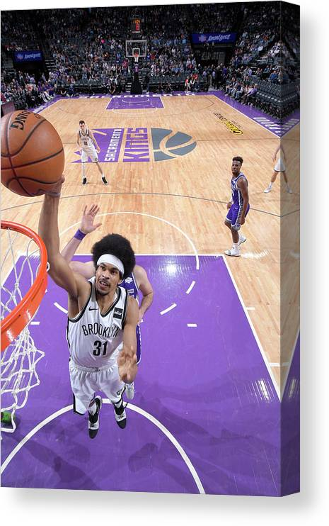 Nba Pro Basketball Canvas Print featuring the photograph Jarrett Allen by Rocky Widner