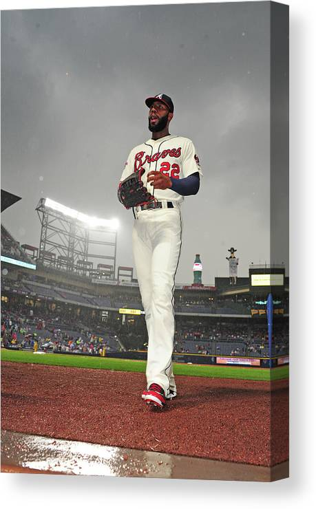 Atlanta Canvas Print featuring the photograph Jason Heyward by Scott Cunningham