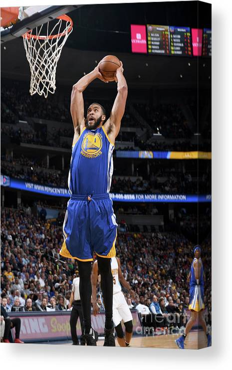 Nba Pro Basketball Canvas Print featuring the photograph Javale Mcgee by Garrett Ellwood