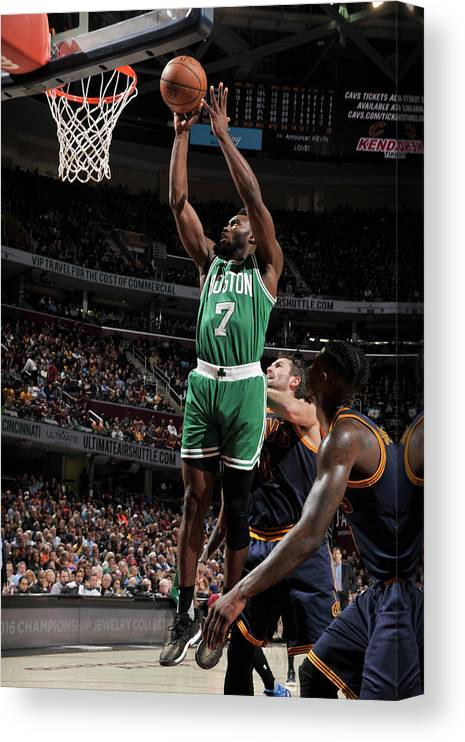 Nba Pro Basketball Canvas Print featuring the photograph Jaylen Brown by David Liam Kyle