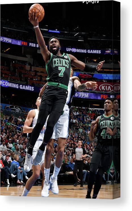 Nba Pro Basketball Canvas Print featuring the photograph Jaylen Brown by Fernando Medina