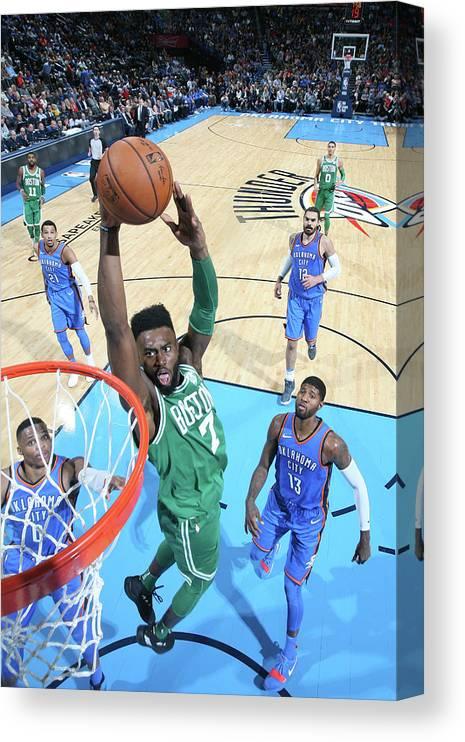 Nba Pro Basketball Canvas Print featuring the photograph Jaylen Brown by Layne Murdoch