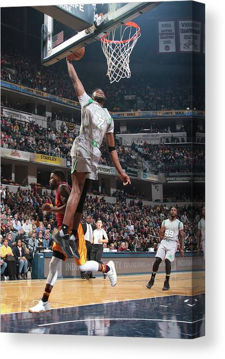 Nba Pro Basketball Canvas Print featuring the photograph Jaylen Brown by Ron Hoskins