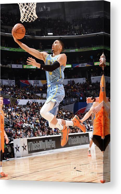 Event Canvas Print featuring the photograph Jayson Tatum by Andrew D. Bernstein