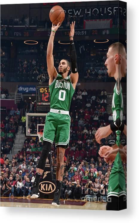 Nba Pro Basketball Canvas Print featuring the photograph Jayson Tatum by David Liam Kyle