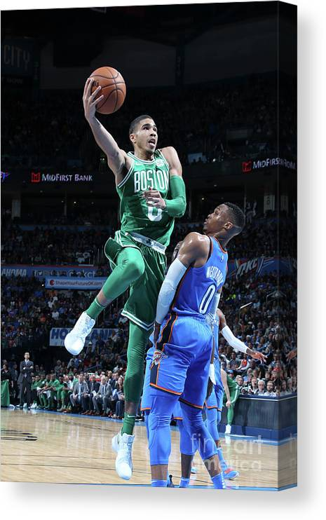 Nba Pro Basketball Canvas Print featuring the photograph Jayson Tatum by Layne Murdoch