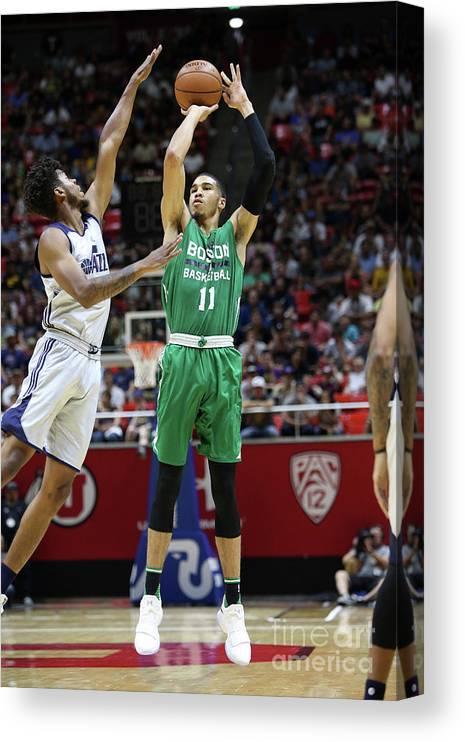 Nba Pro Basketball Canvas Print featuring the photograph Jayson Tatum by Melissa Majchrzak