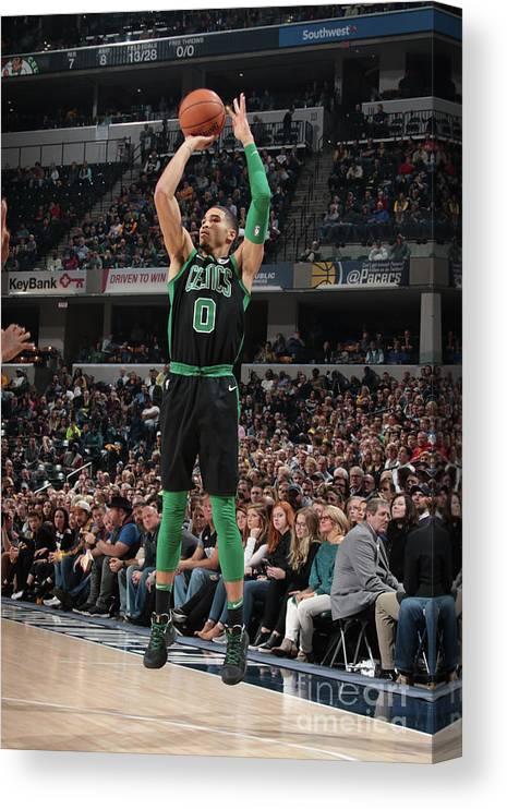 Nba Pro Basketball Canvas Print featuring the photograph Jayson Tatum by Ron Hoskins