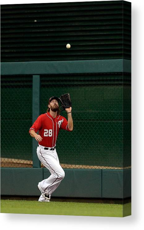 Ninth Inning Canvas Print featuring the photograph Jayson Werth and David Wright by Patrick Mcdermott