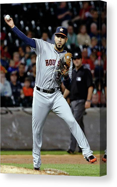People Canvas Print featuring the photograph Jed Lowrie by Jon Durr
