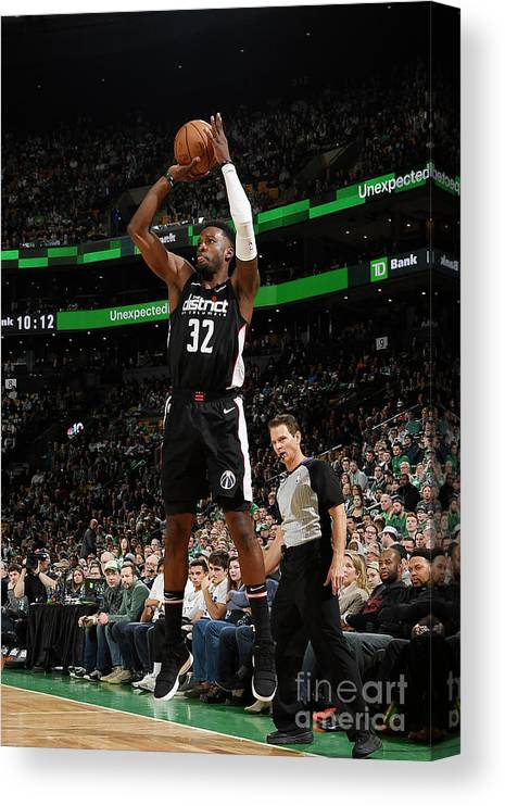 Nba Pro Basketball Canvas Print featuring the photograph Jeff Green by Brian Babineau
