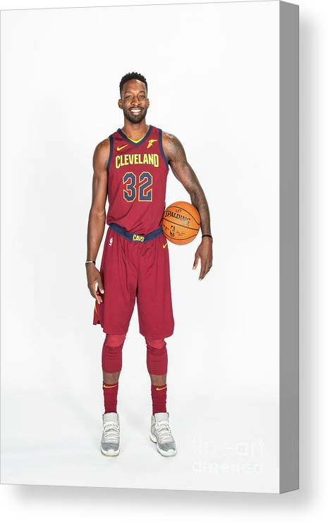 Media Day Canvas Print featuring the photograph Jeff Green by Michael J. Lebrecht Ii