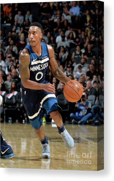 Nba Pro Basketball Canvas Print featuring the photograph Jeff Teague by Mark Sobhani