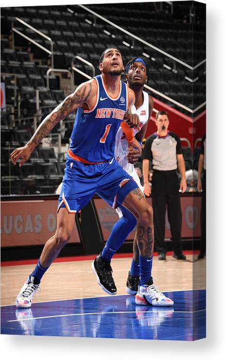 Nba Pro Basketball Canvas Print featuring the photograph Jerami Grant by Chris Schwegler