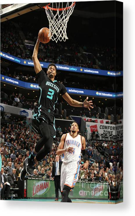 Nba Pro Basketball Canvas Print featuring the photograph Jeremy Lamb by Kent Smith