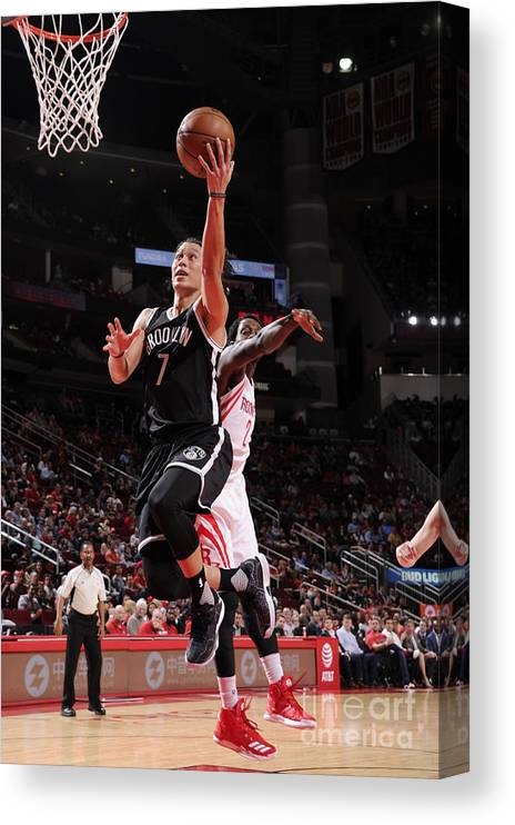 Nba Pro Basketball Canvas Print featuring the photograph Jeremy Lin by Bill Baptist
