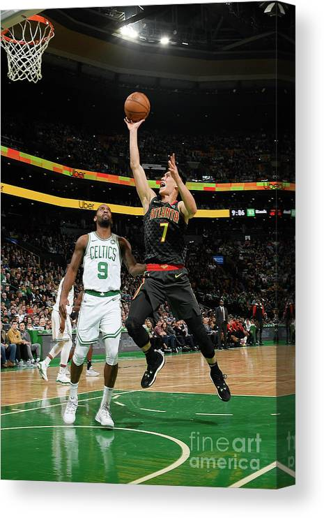 Nba Pro Basketball Canvas Print featuring the photograph Jeremy Lin by Brian Babineau