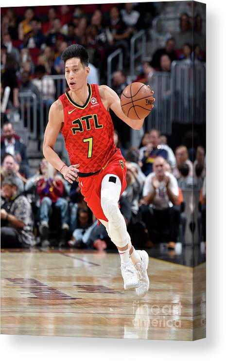 Nba Pro Basketball Canvas Print featuring the photograph Jeremy Lin by David Liam Kyle