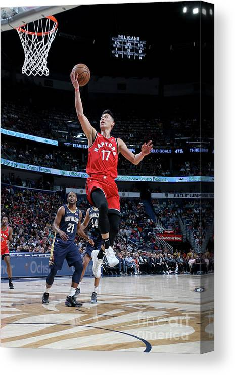 Smoothie King Center Canvas Print featuring the photograph Jeremy Lin by Layne Murdoch Jr.