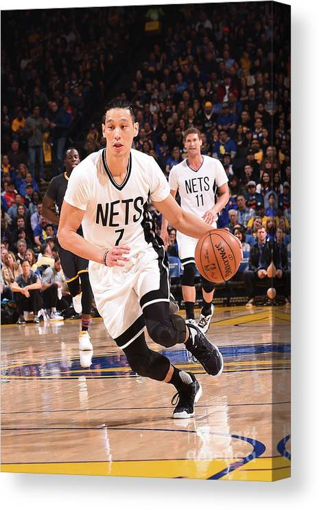 Nba Pro Basketball Canvas Print featuring the photograph Jeremy Lin by Noah Graham
