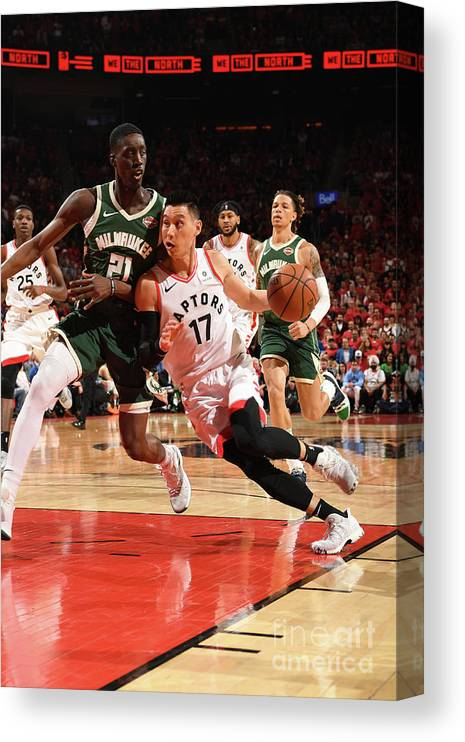 Nba Pro Basketball Canvas Print featuring the photograph Jeremy Lin by Ron Turenne