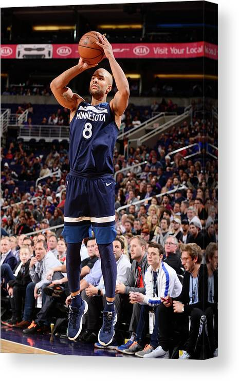 Nba Pro Basketball Canvas Print featuring the photograph Jerryd Bayless by Barry Gossage