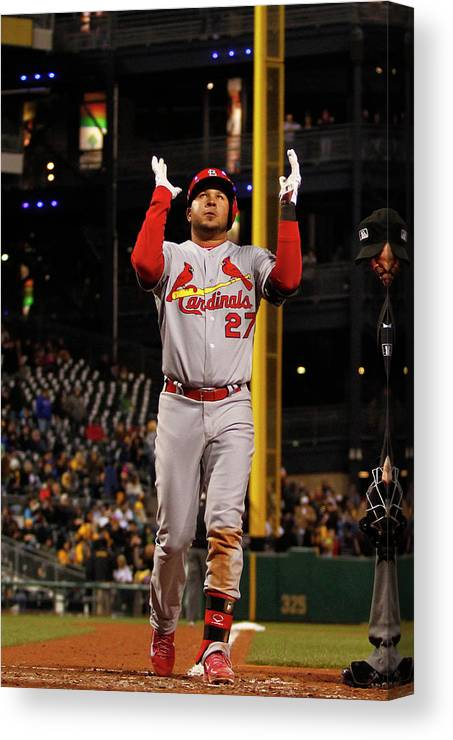 St. Louis Cardinals Canvas Print featuring the photograph Jhonny Peralta by Justin K. Aller