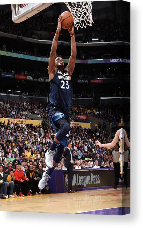 Nba Pro Basketball Canvas Print featuring the photograph Jimmy Butler by Andrew D. Bernstein