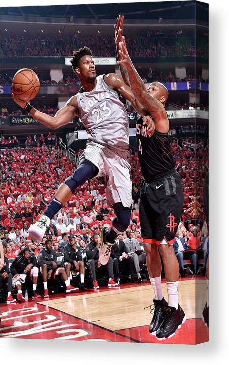Playoffs Canvas Print featuring the photograph Jimmy Butler by Bill Baptist