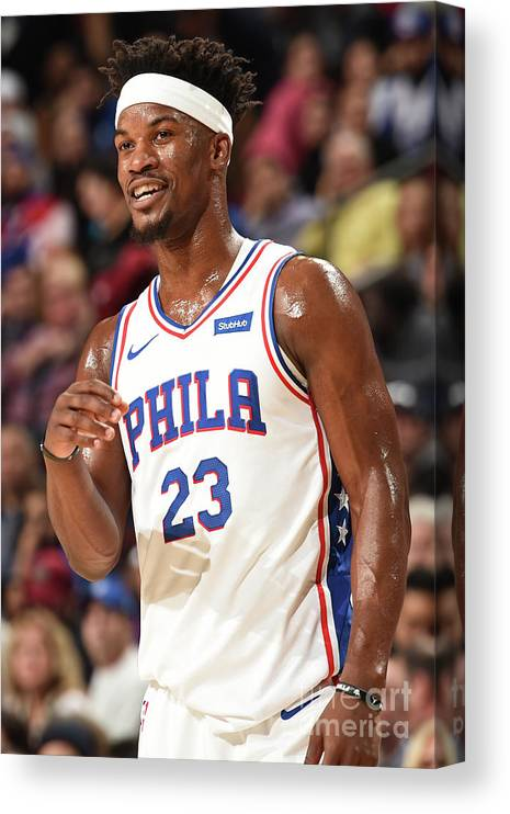 Nba Pro Basketball Canvas Print featuring the photograph Jimmy Butler by David Dow