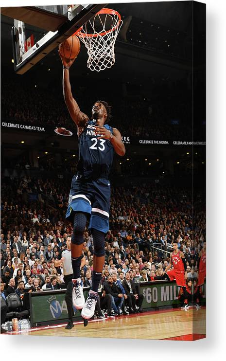 Nba Pro Basketball Canvas Print featuring the photograph Jimmy Butler by Ron Turenne