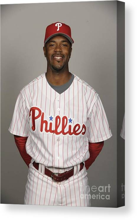 Media Day Canvas Print featuring the photograph Jimmy Rollins by Tony Firriolo