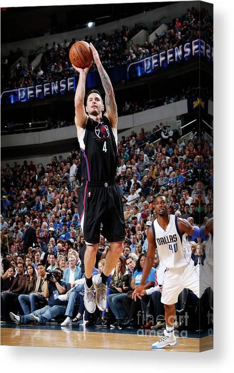 Nba Pro Basketball Canvas Print featuring the photograph J.j. Redick by Glenn James