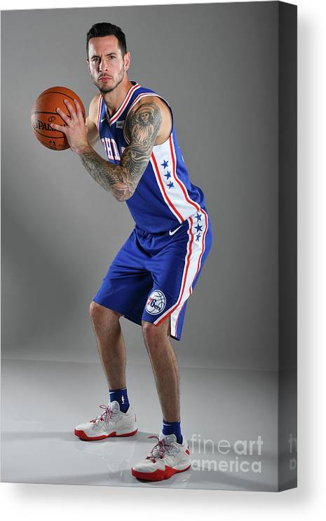 Media Day Canvas Print featuring the photograph J.j. Redick by Jesse D. Garrabrant