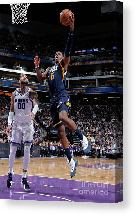 Nba Pro Basketball Canvas Print featuring the photograph Joe Johnson by Rocky Widner