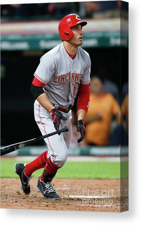 Ninth Inning Canvas Print featuring the photograph Joey Votto by Ron Schwane