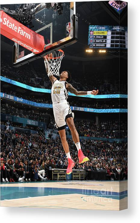 Nba Pro Basketball Canvas Print featuring the photograph John Collins by Andrew D. Bernstein