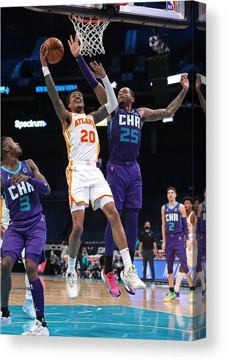 Nba Pro Basketball Canvas Print featuring the photograph John Collins by Brock Williams-Smith