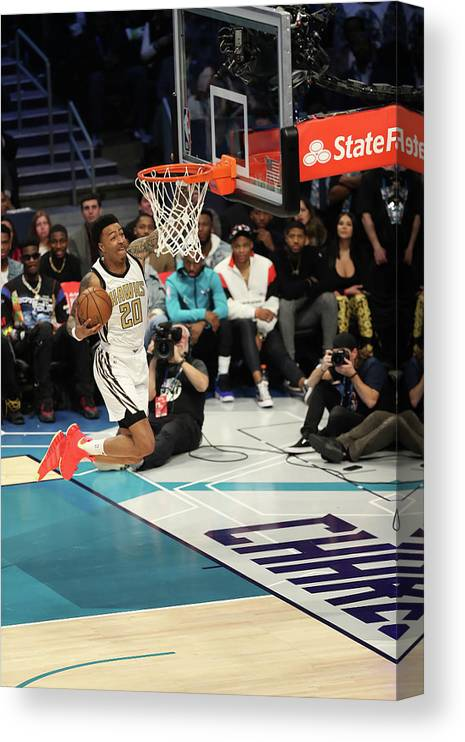 Nba Pro Basketball Canvas Print featuring the photograph John Collins by Kent Smith