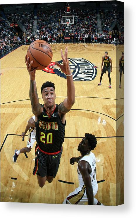 Smoothie King Center Canvas Print featuring the photograph John Collins by Layne Murdoch