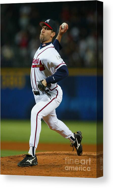 Atlanta Canvas Print featuring the photograph John Smoltz by Jamie Squire