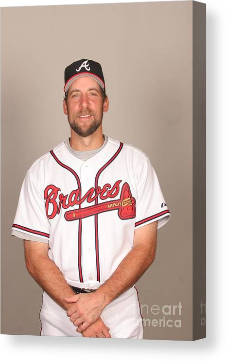 Media Day Canvas Print featuring the photograph John Smoltz by Tony Firriolo